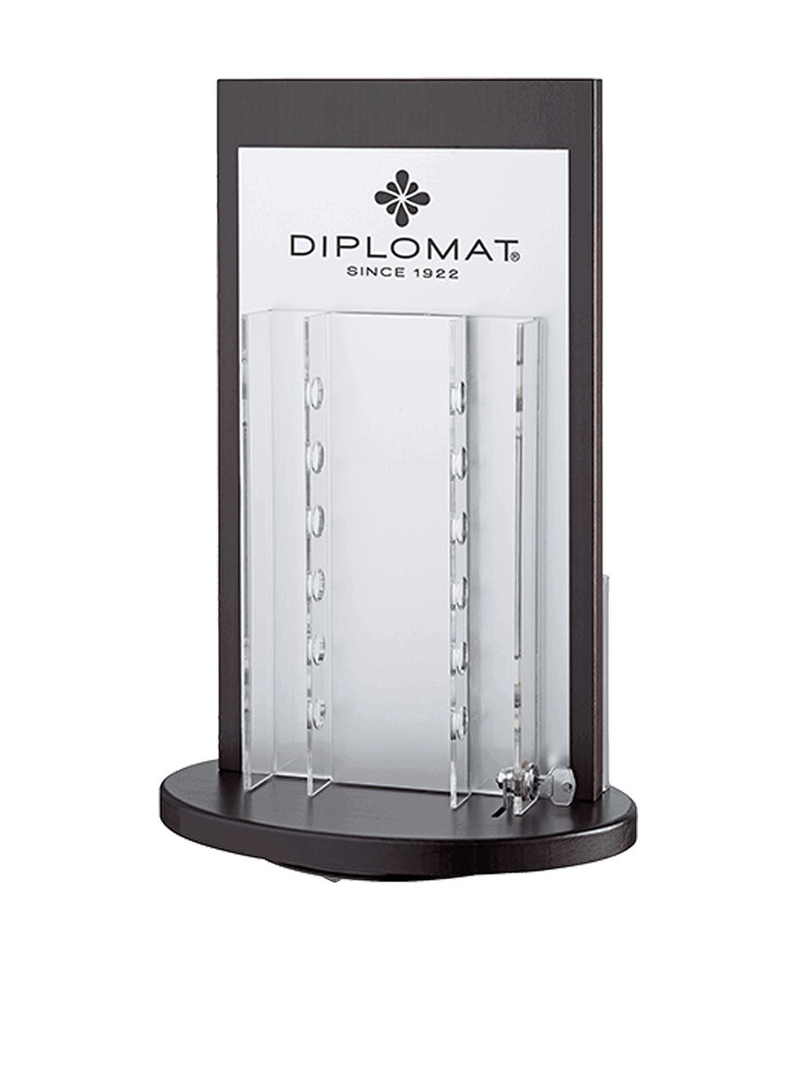 Diplomat – rotary display for writing instruments