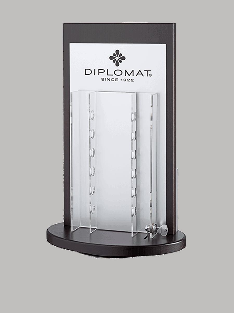 Diplomat – Drehdisplay für Schreibgeräte