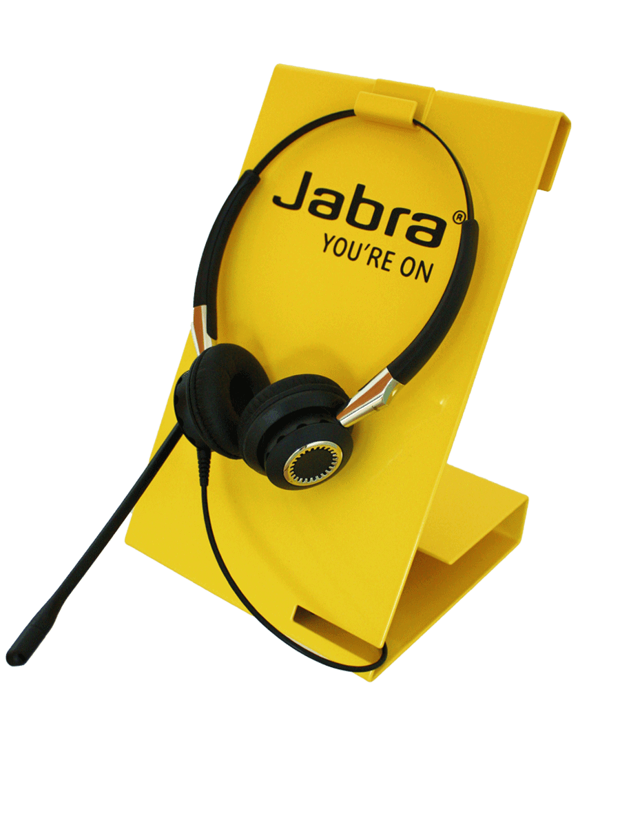 Jabra counter display for headsets