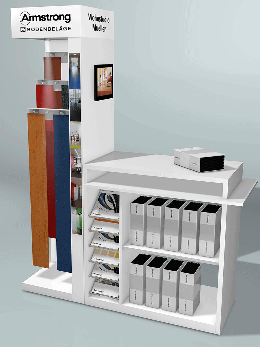 DLW – presentation island for floor coverings