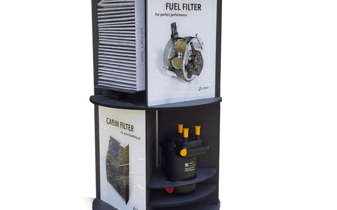 Kolbenschmidt – counter display for filters – rotatable