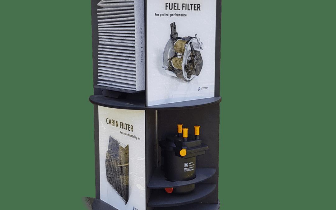 Kolbenschmidt – Thekendisplay für Filter – drehbar