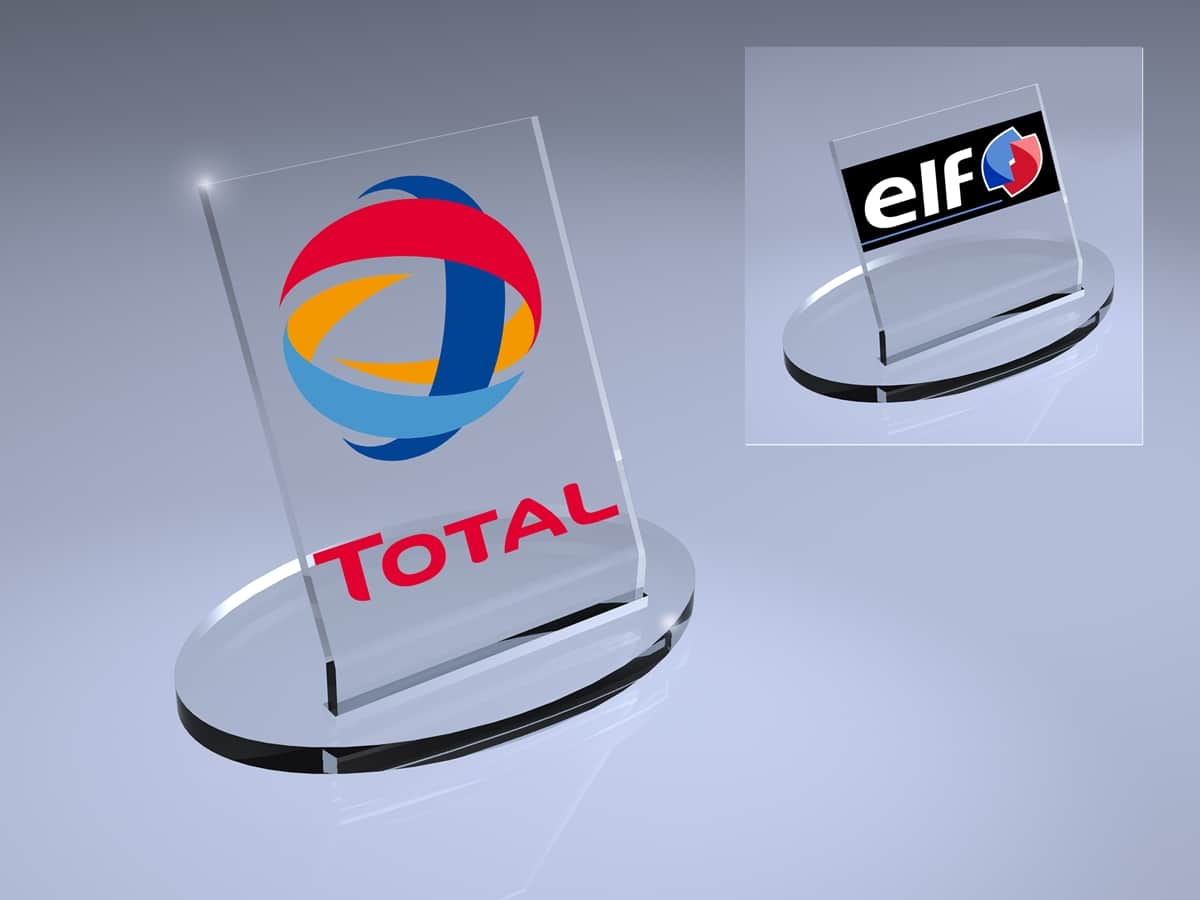 Total – Thekenverkaufsdisplay für Motorenöl