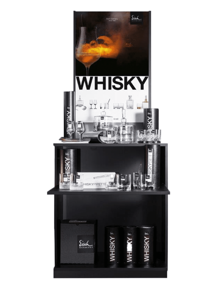 Eisch sales display for high quality glasses and accessories