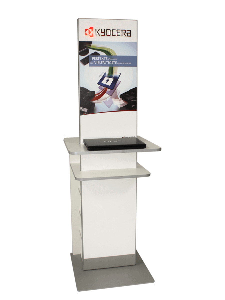 Kyocera – information terminal with shelves