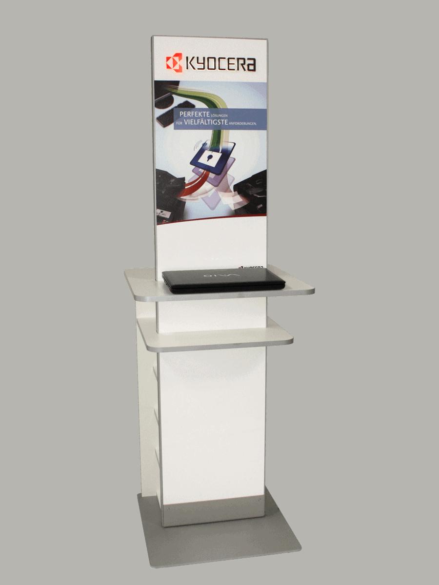 Kyocera – Info-Terminal mit Ablagen
