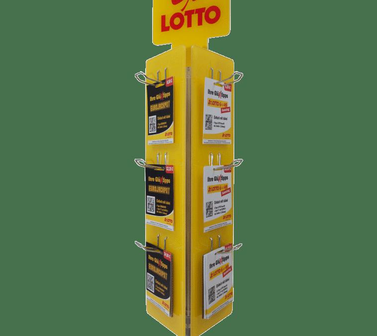 Lotto RLP – Drehständer / Blisterständer für Karten