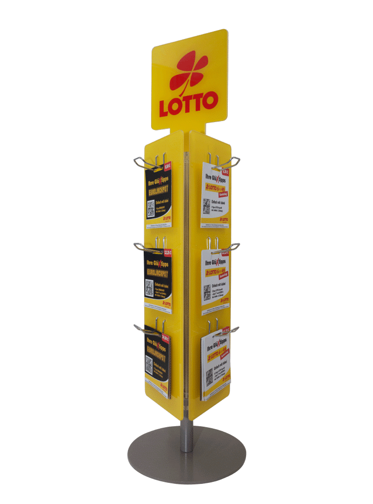 Lotto RLP – rotating stand / blister stand for cards