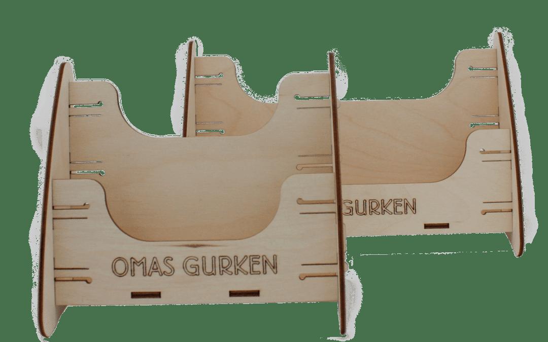 Schudeisky Omas Gurken – brochure display for trade fairs and food retailers
