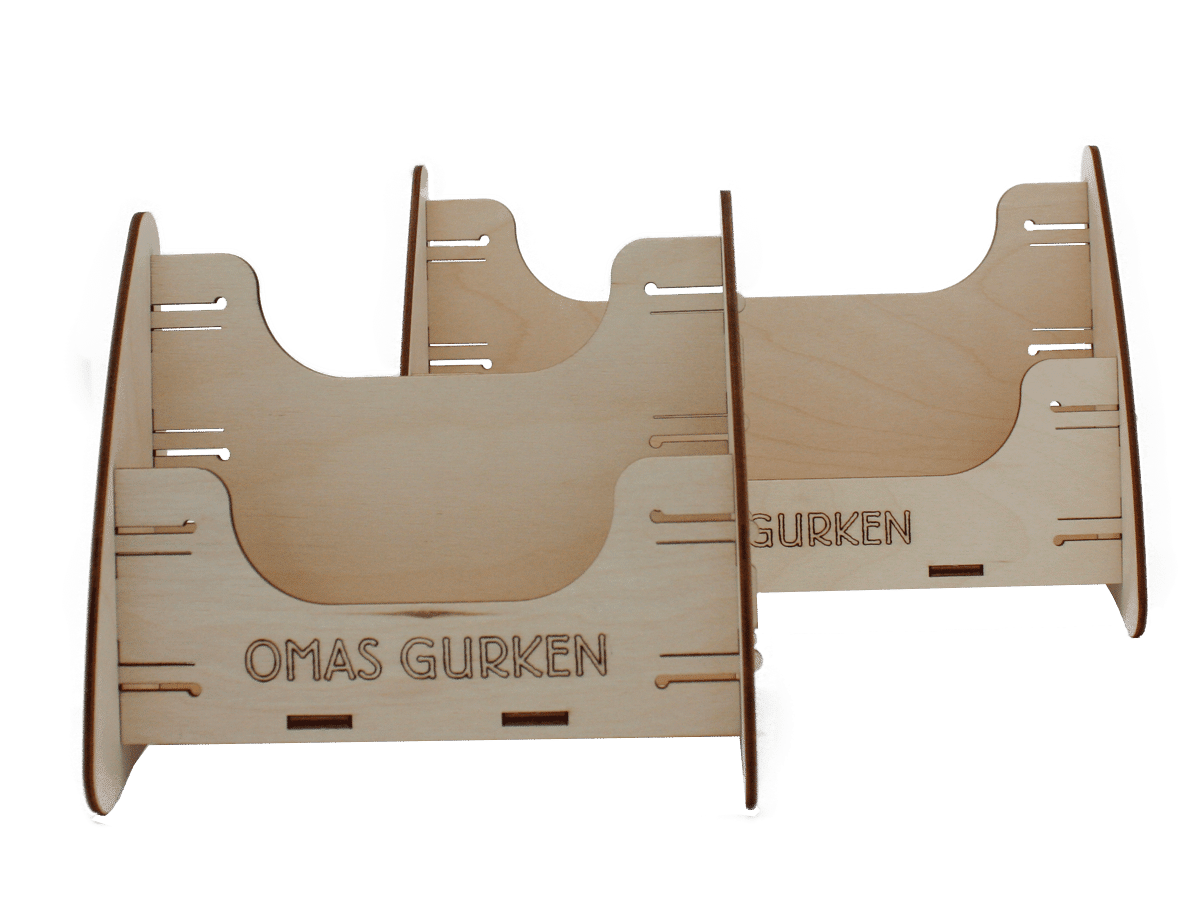 Schudeisky Omas Gurken – brochure display for trade fairs and food retailers