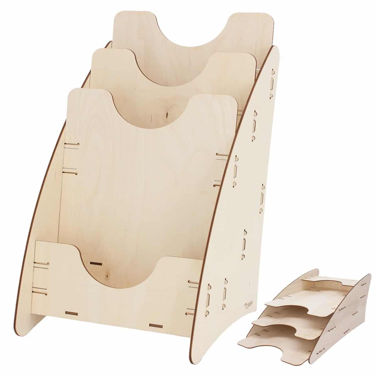 Prospektständer Display aus Holz – myORGA®
