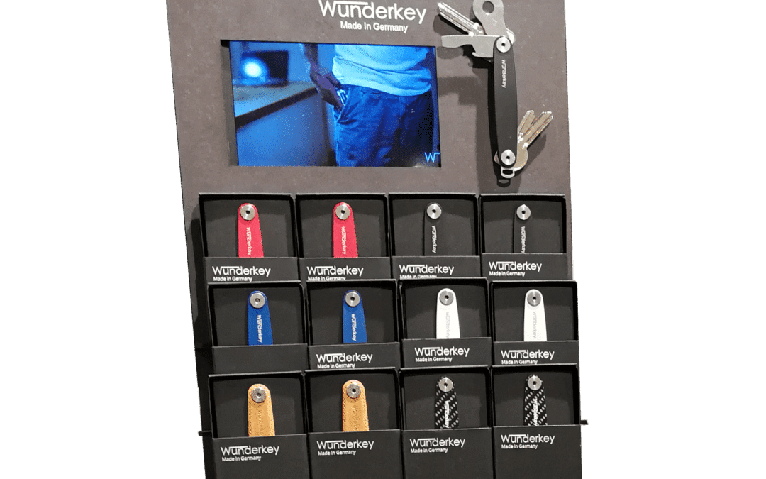 Wunderkey – counter displays and product presentation for a key organizer